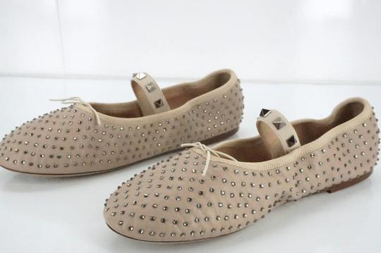 Valentino Ballet 7030706 Bow Studded Slippers Beige Flats Image 5