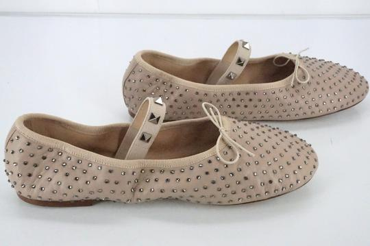 Valentino Ballet 7030706 Bow Studded Slippers Beige Flats Image 6
