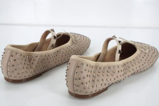 Valentino Ballet 7030706 Bow Studded Slippers Beige Flats Image 7