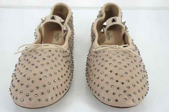 Valentino Ballet 7030706 Bow Studded Slippers Beige Flats Image 8