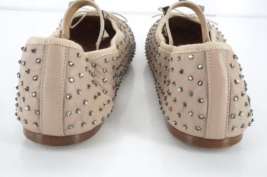 Valentino Ballet 7030706 Bow Studded Slippers Beige Flats Image 9