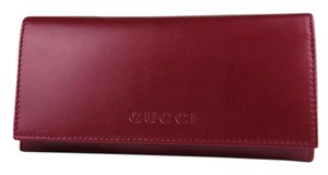Gucci Gucci Women's Candy Red Metallic Leather Wallet w/logo 305282 6523