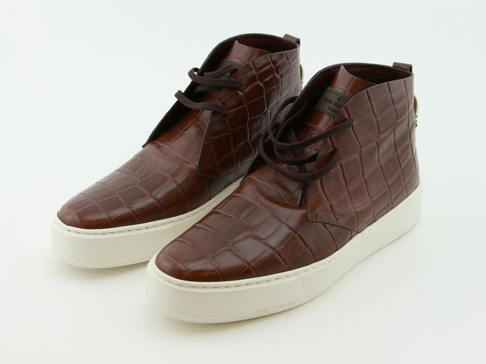 64dc6127b1b Louis Vuitton Brown New Men Leather Trooper High Derby Formal Shoes Size US  9 Regular (M, B) 39% off retail