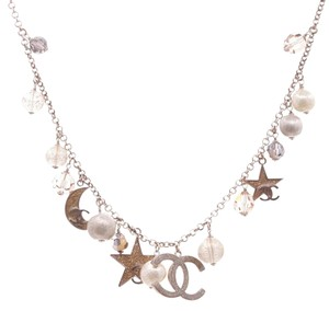 Chanel Chanel Gold-Tone Moon & Stars Charm Necklace