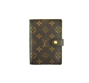 Louis Vuitton Agenda PM Monogram Canvas Leather Notebook Planner Cover w/ Inserts