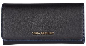 Vera Bradley NEW Vera Bradley Women's $138 Black Leather Audrey Continental Wallet