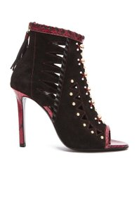 Tamara Mellon Black/Burgundy Sandals
