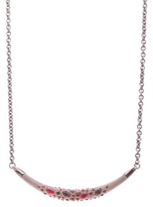 Alexis Bittar Alexis Bittar Gunmetal & Lucite Ruby Dust Crescent Necklace