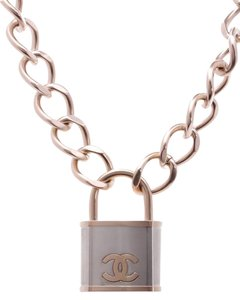 Chanel Chanel Gold-Tone Oversized CC Padlock Necklace