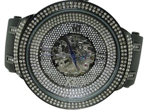 JoJino Joe Rodeo/Jojo Automatic Black Face Master Diamond Watch 2.2 Ct Jjm73