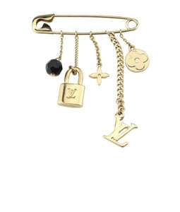 Louis Vuitton Louis Vuitton Gold-tone Charm Safety Pin /Yellow Gold Plated