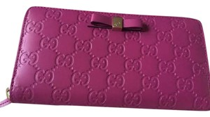 Gucci Gucci Bow pink wallet