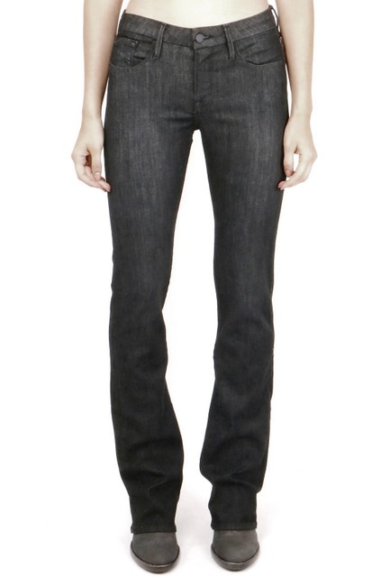 FRAME Stretch Fit Boot Cut Jeans-Dark Rinse Image 2