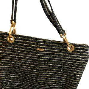 Eric Javits Tote in black and gold