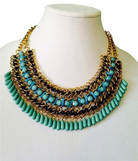 Preload https://img-static.tradesy.com/item/2097905/shades-of-blue-and-turquoise-with-chain-statement-necklace-0-0-540-540.jpg