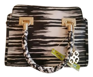 Gianni Bini Satchel in Black and White