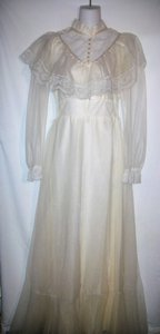 Vintage 70s Maxi Boho Hippie Floral Lace Wedding Dress Wedding Dress