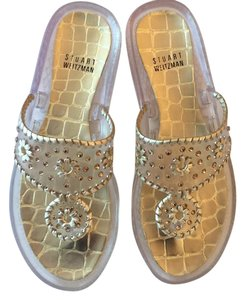 Stuart Weitzman clear ,gold Sandals