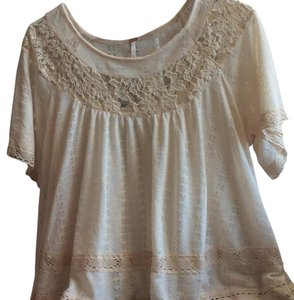 Free People Top Cream White