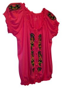 RXB Blouse Stunning Colors Embroidered Tunic