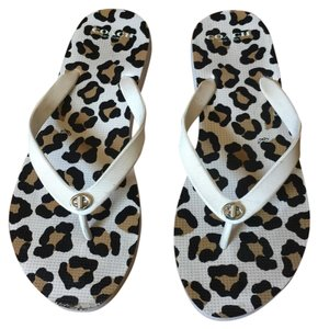 Coach ivory chalk Leopard Sandals