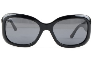 Chanel Chanel black rounded rectangle frame sunglasses