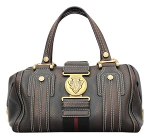 Gucci Aviatrix Leather Boston Hysteria Satchel in Metallic