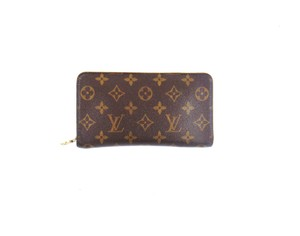 Louis Vuitton Zippy Monogram Canvas Leather Zip Clutch Long Wallet w/ Box