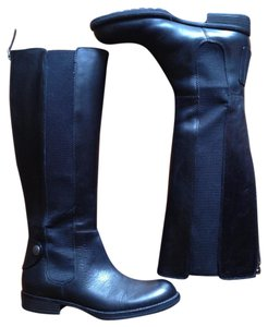 Franco Sarto Leather Elastic black Boots
