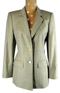 Escada Luxury Wool Gray 2-Buttom Jacket and Pants Designer Suit