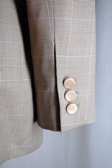 Escada Luxury Wool Gray 2-Buttom Jacket and Pants Designer Suit Image 3