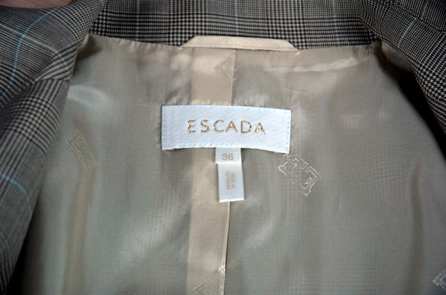 Escada Luxury Wool Gray 2-Buttom Jacket and Pants Designer Suit Image 4