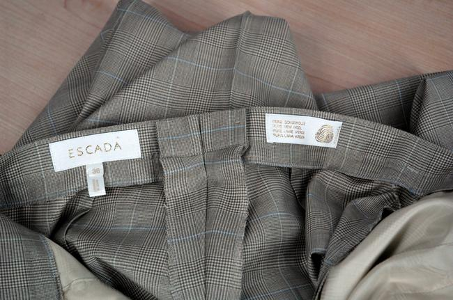 Escada Luxury Wool Gray 2-Buttom Jacket and Pants Designer Suit Image 8