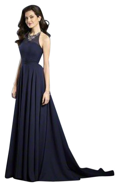 Item - Navy Sapphire 8108l Modern Bridesmaid/Mob Dress Size 8 (M)