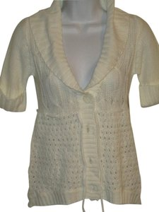 Derek Heart Sweater Short Sleeve Cardigan