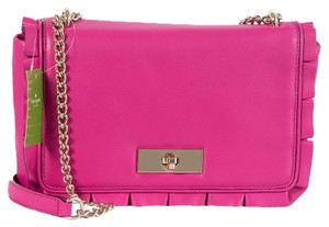Kate Spade Turnlock Danbury Street Daniella Ruffle Cross Body Bag