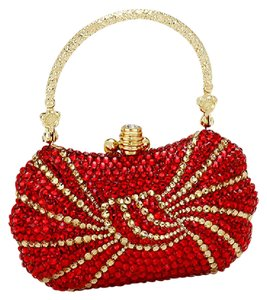 Other Rhinestone Crystal Evening Crystal Evening Rhinestone red Clutch