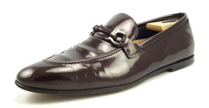 Salvatore Ferragamo Men's Shoes Patent Leather Bit Loafers