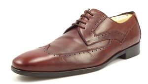 Salvatore Ferragamo Lavorazione Men's Shoes Wingtip Leather Oxfords