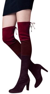 Stuart Weitzman Over The Knee Highland Berry Suede Boots
