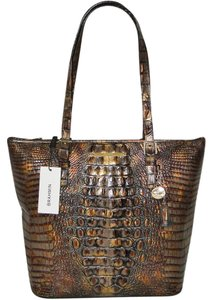Brahmin Asher Melbourne Leather Tote in Fall Tortoise
