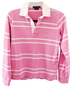 Polo Ralph Lauren Button Down Shirt pink and white