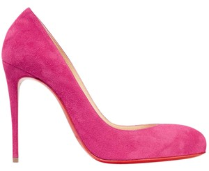 Christian Louboutin Breche Suede 100mm pink Pumps