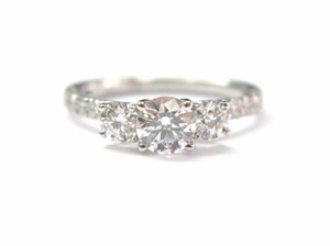 Hearts on Fire Hearts On Fire 18Kt Round Cut Diamond 3-Stone Engagement Ring WG 1.29C