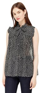 Kate Spade Silk Sheer Top Polka Dot