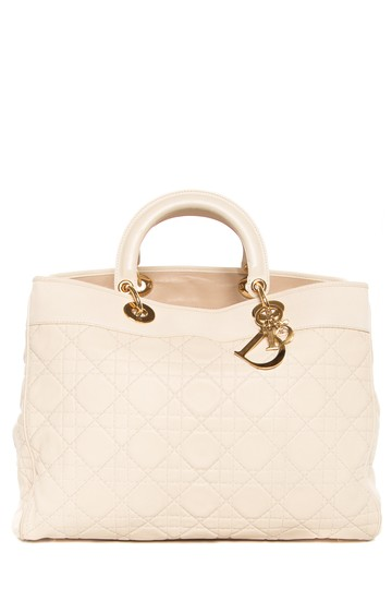 b7a1d55b005 Dior Cannage Leather Large Lady Cream Tote Bag | Totes on Sale