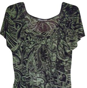 Claudia Richard Top Olive Green, Brown