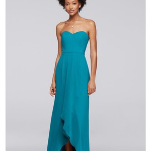 David's Bridal Oasis Strapless Bridesmaid Dress With High-low Hem Dress