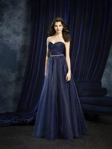 Alfred Angelo Navy Alfred Angelo Sapphire Bridesmaids Dress 8107l Navy Size 10 Dress