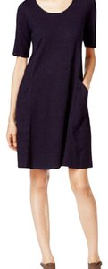 Eileen Fisher short dress black on Tradesy